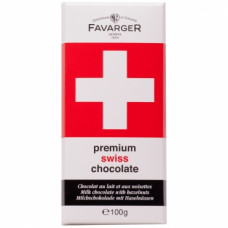 Шоколад молочный с карамелью и фундуком Premium Swiss Chocolate Favarger