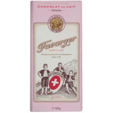 Шоколад молочный с лесными орехами Heritage Favarger
