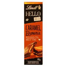 Шоколад с карамельным брауни Hello Lindt